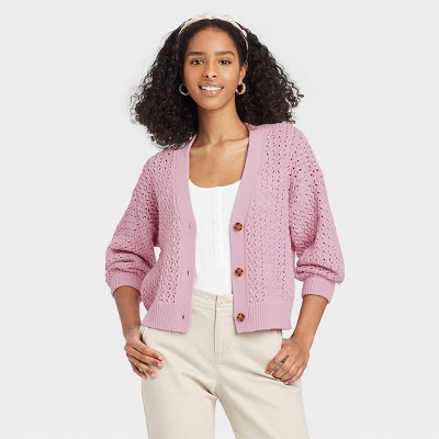 Women's V-Neck Button-Front Cardigan - A New Day™