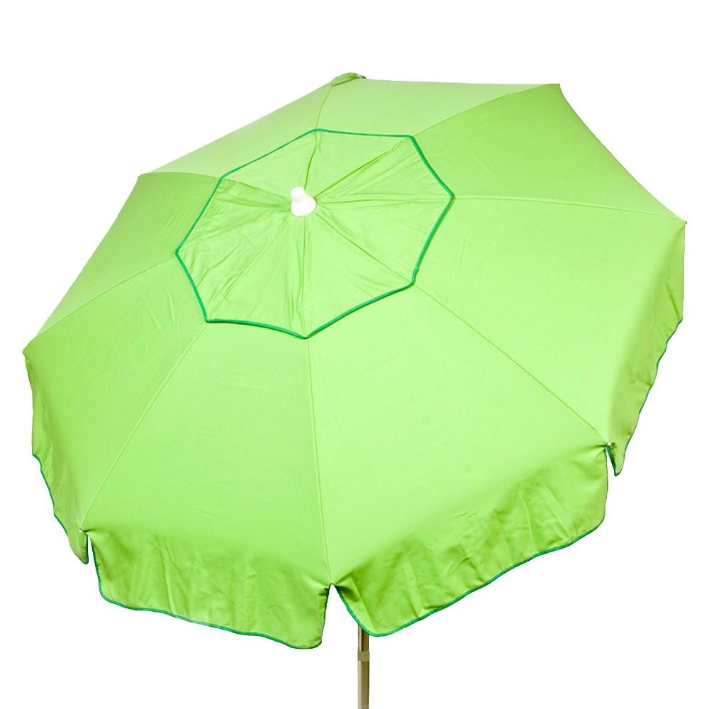 6' Italian Aluminum Collar Tilt Patio Umbrella - Parasol, Green