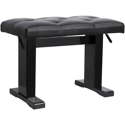 On-Stage Height Adjustable Piano Bench Black - image 1 of 1