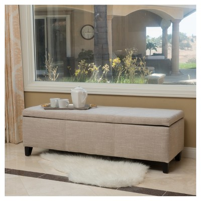 Lucinda Fabric Storage Ottoman Bench - Christopher Knight Home : Target