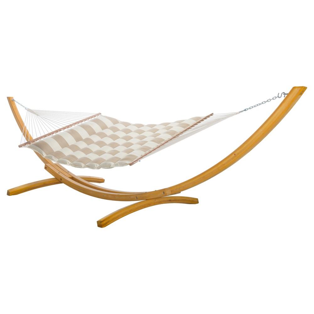Image of Pillowtop Hammock - Beige Stripe - Hatteras Hammocks