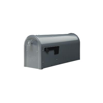 Gibraltar Mailboxes Edson Post Mount Mailbox Gray