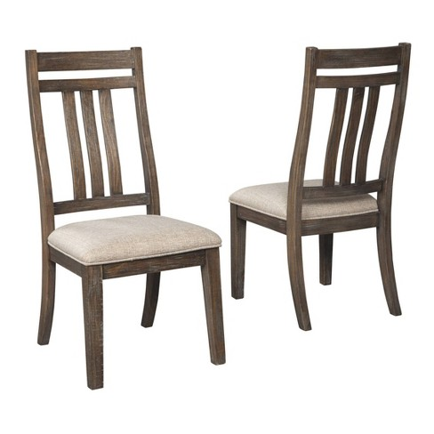 Set Of 2 Wyndahl Dining Upholstered Side Chair Rustic Brown Signature Design By Ashley Target