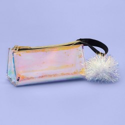 Iridescent Sequin Pencil Pouch with Pom - More Than Magic™