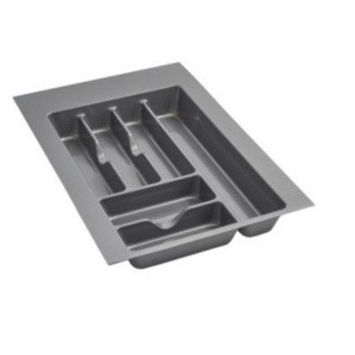 Rev-A-Shelf GCT Medium Trim-to-Fit Glossy Plastic Cutlery 6 Compartment Tray Insert Utensil Organizer for Kitchen Cabinet Drawers