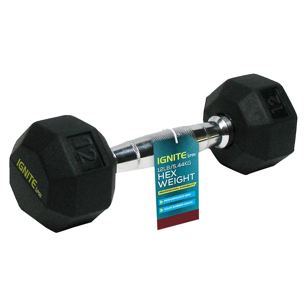 Ignite by Spri Chrome Hand Weight - 12lbs