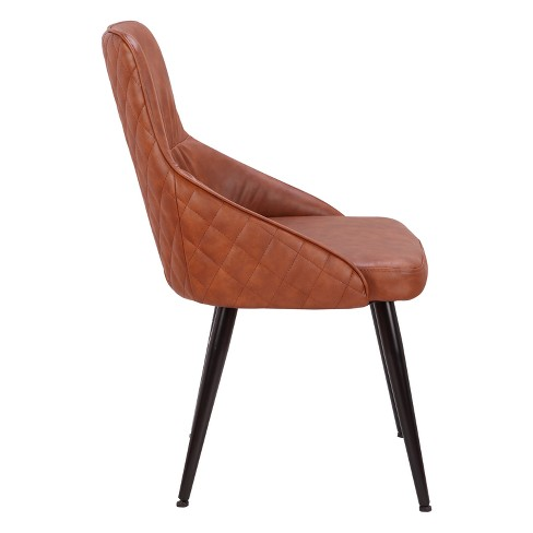 Alden Contemporary Dining Accent Chair Faux Leather With Quilted Backrest Lumisource Target