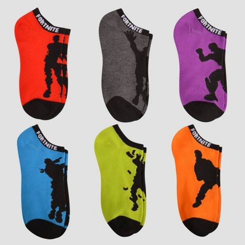 Boys' Fortnite Dance It Out 6pk Socks - Red - image 1 of 1