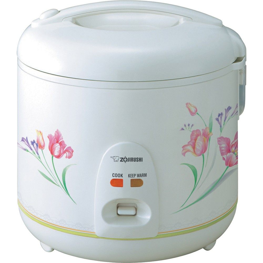Automatic Rice Cooker & Warmer, 10 cup, Spring Bouquet The Automatic Rice Cooker and Warmer features an easy-to-use single switch control; just add the rice and water and turn it on. It's that easy. The lid locks tight to keep moisture in, and has a built-in handle that makes it easy to open and close the rice cooker. It makes perfect rice each and every time. The lid is detachable and combined with a non-stick inner cooking pan is simple to clean. Color: Spring Bouquet.