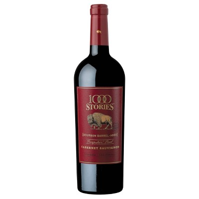 1000 Stories Bourbon Barrel-Aged Prospector's Proof Cabernet Sauvignon Red Wine - 750ml Bottle