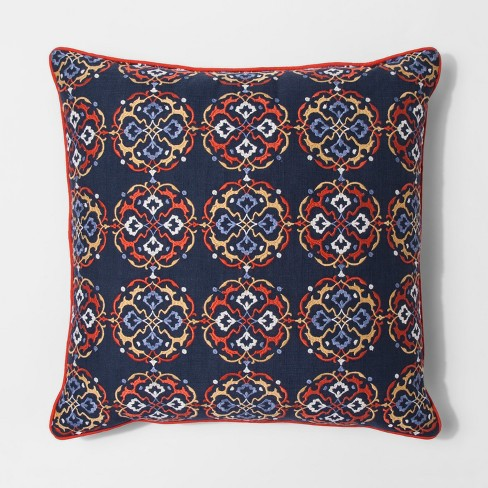 Navy Multi Medallion Oversize Square Throw Pillow - Threshold™ - image 1 of 1