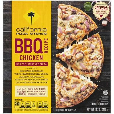 California Pizza Kitchen Crispy Thin Crust BBQ Recipe Chicken Frozen Pizza - 14.7oz