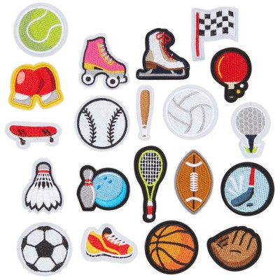 Bright Creations 20 Pieces Iron On Sports Patches for Clothing