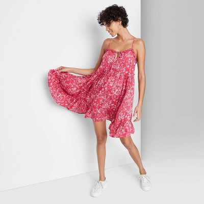 Women's Sleeveless Tie Front Breezy Dress - Wild Fable™
