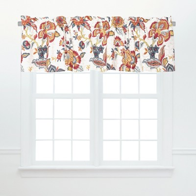 C&F Home Kennedy Red and Gold Floral Valance