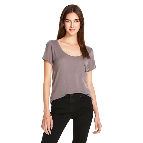 Women's Crew Neck Micromodal T-Shirt with Pocket - Mossimo™ - image 1 of 2