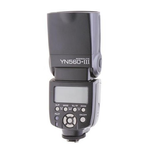 Yongnuo YN560-III Manual Speedlite Flash for Canon, Nikon, Olympus and Pentax Camera, PC Port, LCD Screen, Power Zoom - image 1 of 1