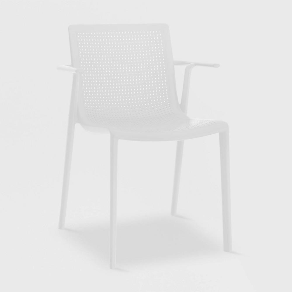 Image of Beekat 2pk Patio Armchair - White - RESOL