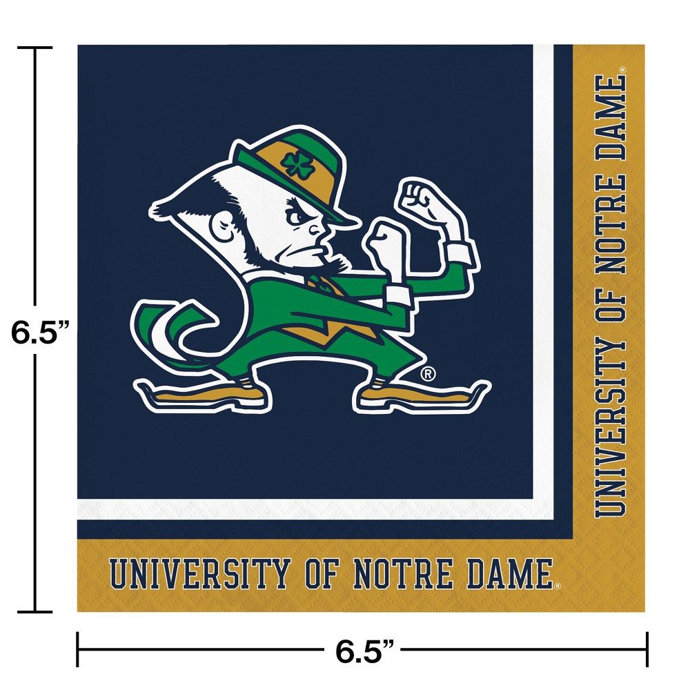 Image of 20ct Notre Dame Fighting Irish Napkins