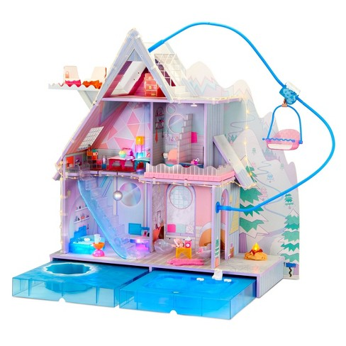 L.O.L. Surprise! O.M.G. Winter Chill Cabin Wooden Doll House with 95+ Surprises, Hot Tub and Real Ice Skating Rink - image 1 of 4
