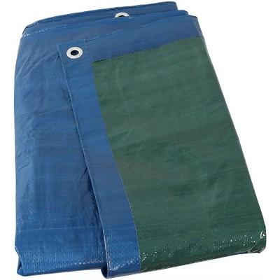 Sunnydaze Decor Waterproof Multi-Purpose Poly Tarp, 16-Feet by 20-Feet  - Blue and Green