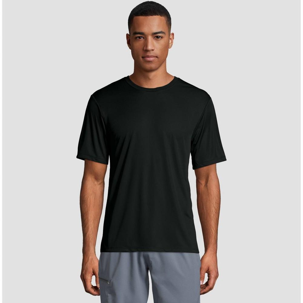Hanes Men's Short Sleeve CoolDRI Performance T-Shirt -Black XL, Black