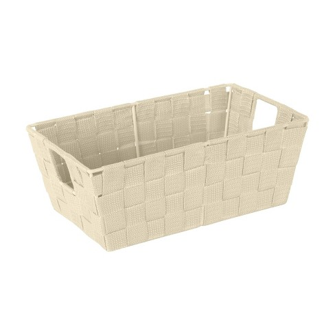 """Simplify Small 6.5"""" Woven Strap Storage Bin Ivory - image 1 of 4"""