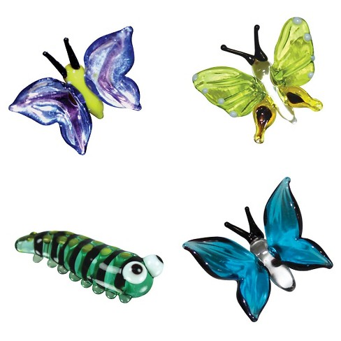 Looking Glass 4 - Pack - Caterpillar and Butterfly Mini Figurines - image 1 of 5
