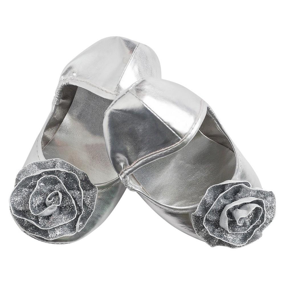 Little Adventures Princess Shoes - Silver Size 11/12, Size: 11-12