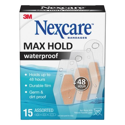 Bandages & Gauze: Nexcare Max Hold Waterproof