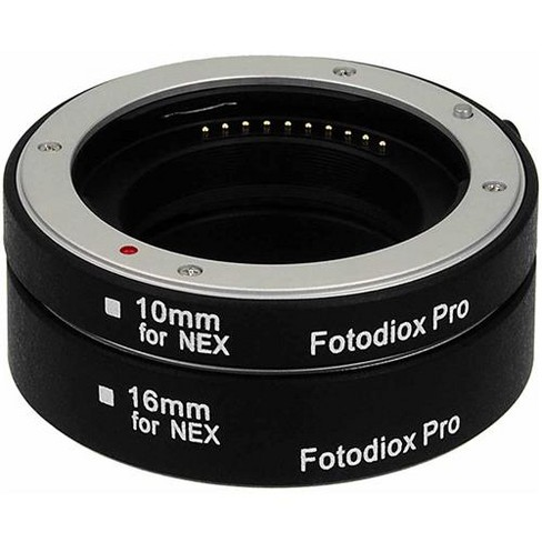 Fotodiox Automatic Macro Extension Tube Kit with Auto Focus and TTL Auto Exposure for Sony E-Mount (NEX) Mirrorless Camera System - image 1 of 4