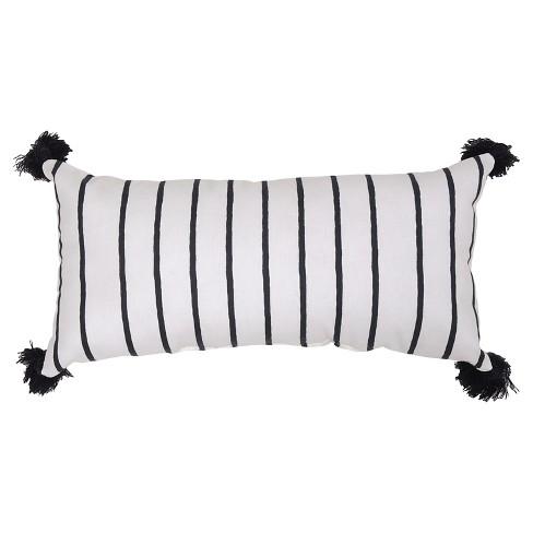 Lumbar Pillow - Black Stripe - Threshold™ - image 1 of 2