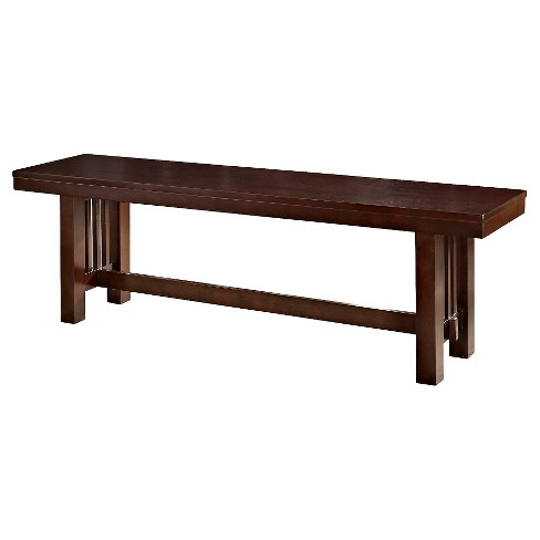 "60"" Cappuccino Wood Kitchen Dining Bench - Saracina Home - image 1 of 3"