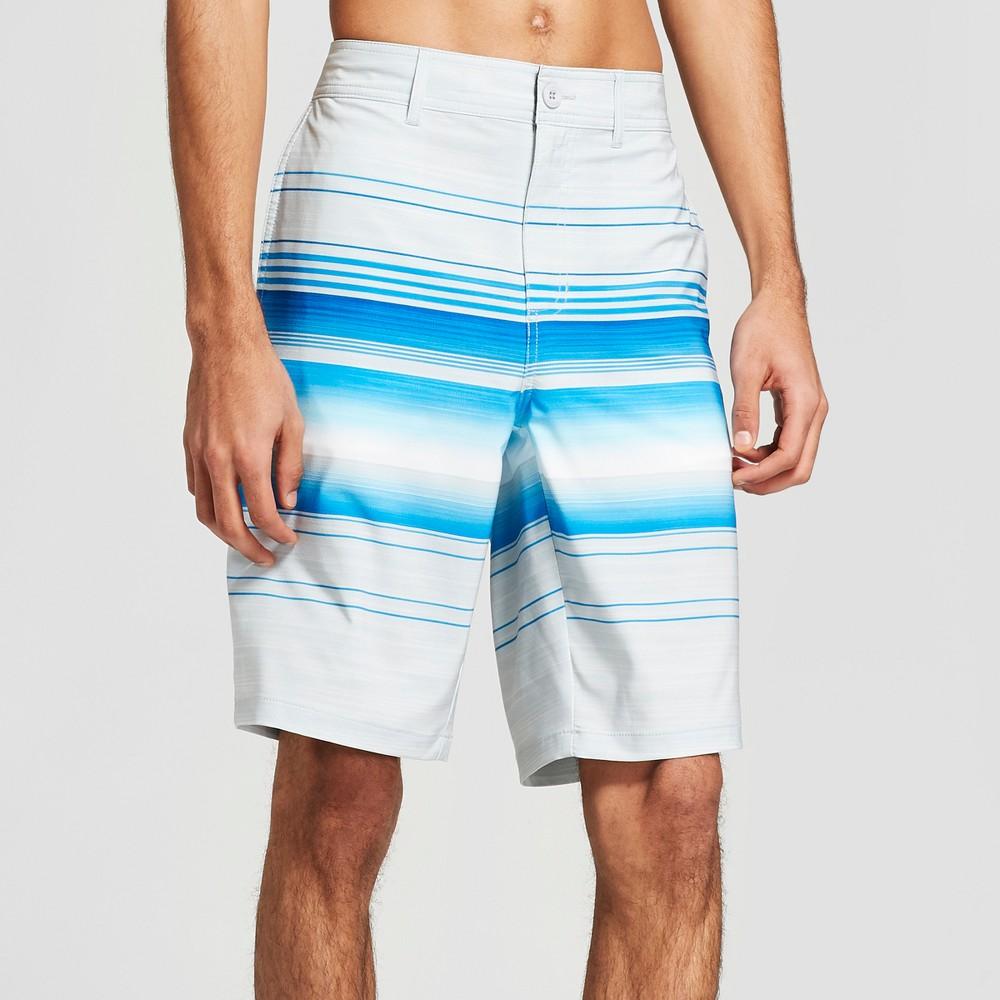 Men's Striped 10.5 Blazin Hybrid Swim Shorts - Trinity White 38