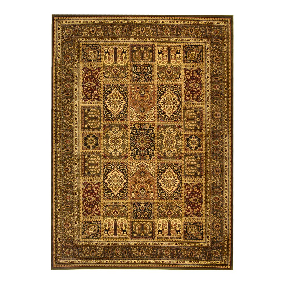 Gray/Ivory Floral Loomed Area Rug 8'X11' - Safavieh, Multi/Green