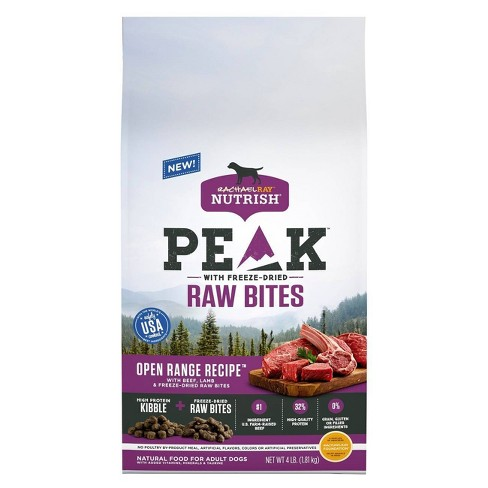 Rachael Ray Nutritious Peak Inclusions Beef & Lamb Dry Dog Food - 4lb - image 1 of 4
