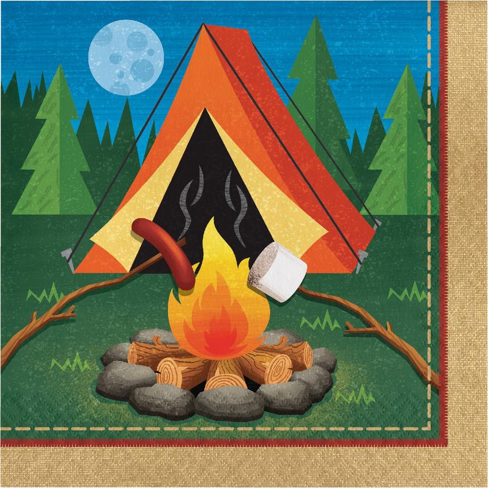 Image of 16ct Creative Converting Camping Napkins