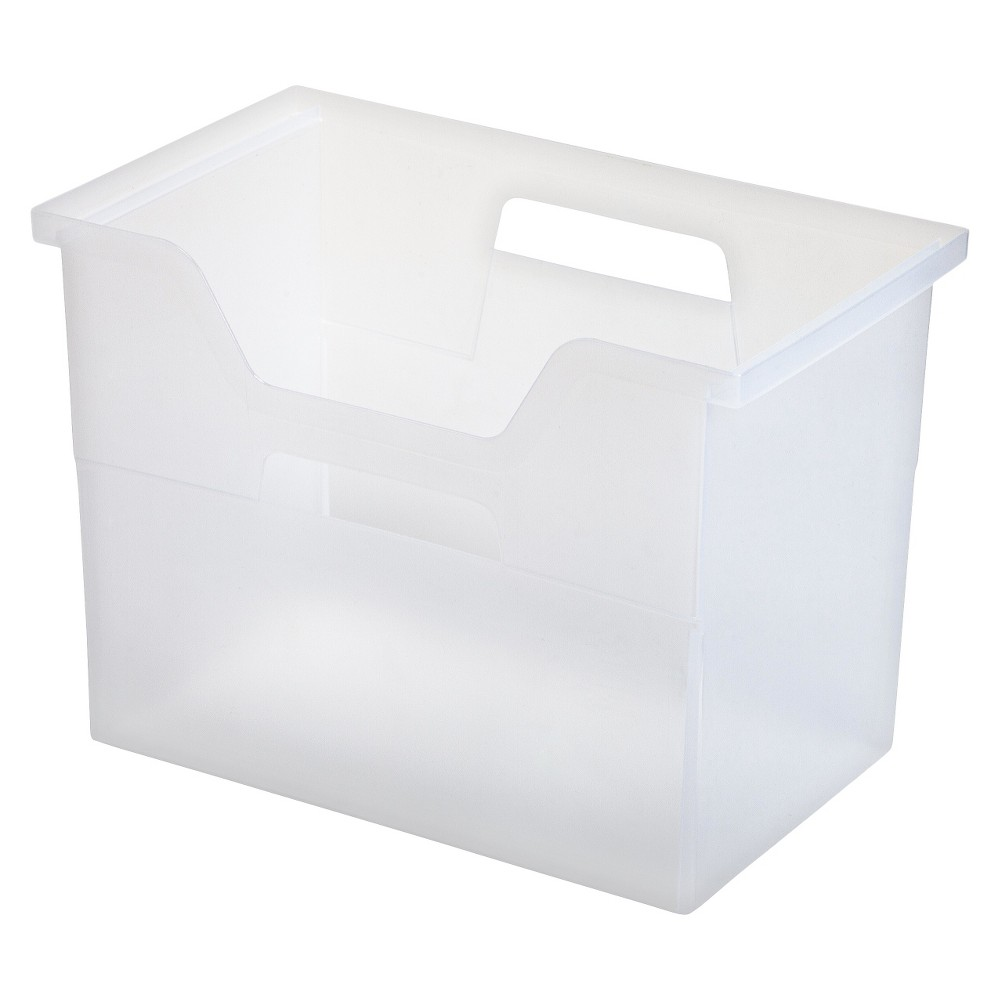 Iris Large Desktop File Storage Box - 4pk, Clear