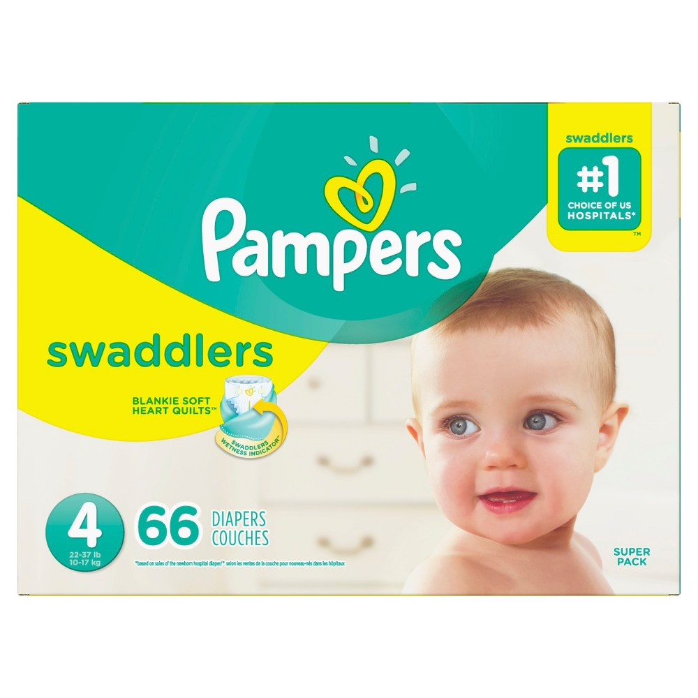 Pampers Swaddlers Diapers Super Pack - Size 4 (66ct)
