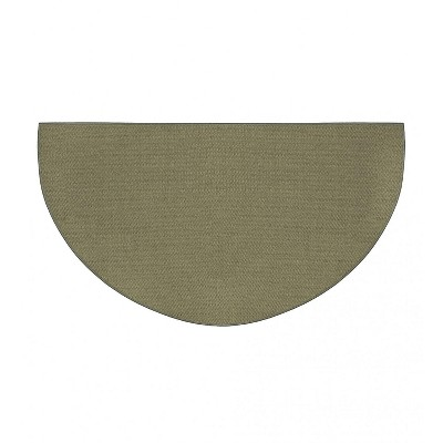 """Plow & Hearth - Flame-Resistant Half-Round Hearth Fireproof Rug, 27""""x 48"""""""