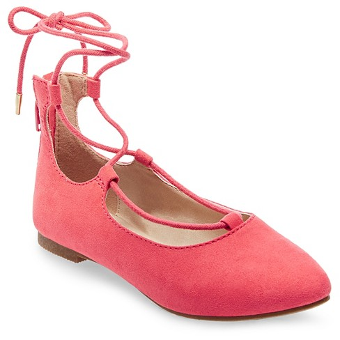 Girls' Stevies #DRESSUP Ballet Flats - Coral 2 - image 1 of 4