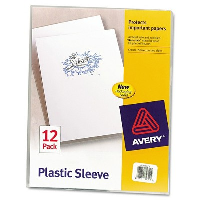 Avery Clear Polypropylene Plastic Sleeves, Letter, 12pk
