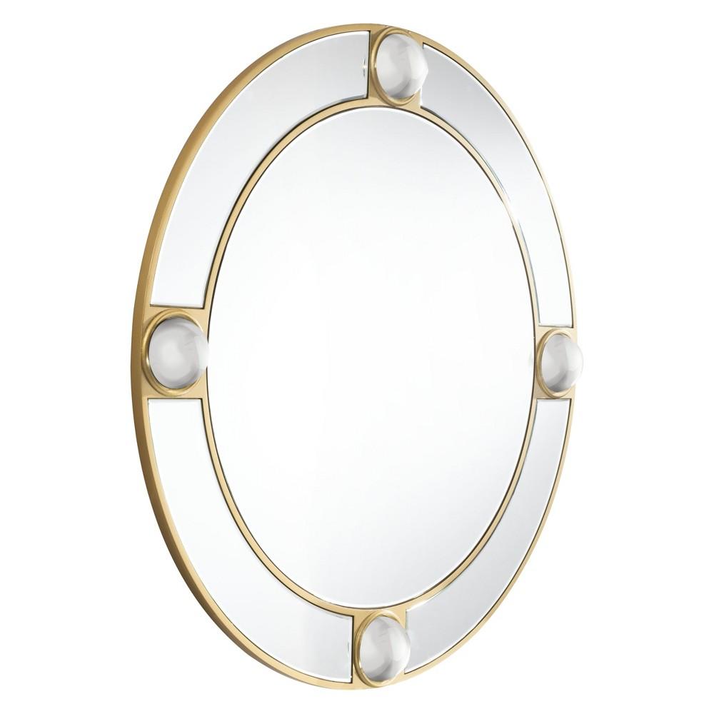 ZM Home 39 Modern Round Mirror Gold