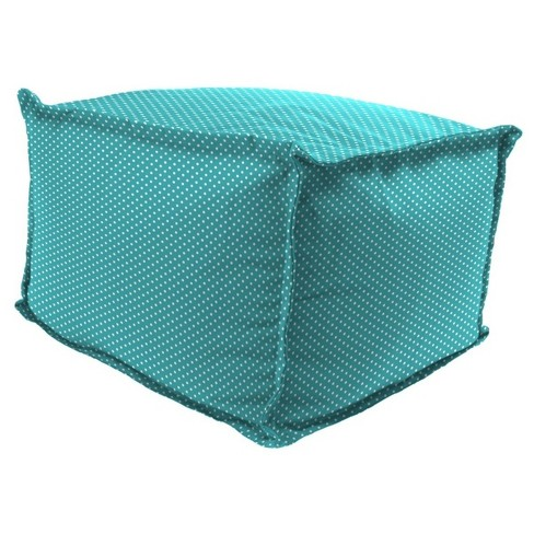 Outdoor Bean Filled Pouf/Ottoman In Mini Dots Ocean - Jordan Manufacturing - image 1 of 1