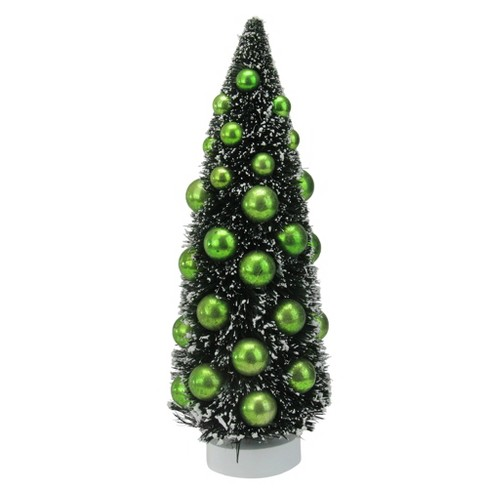 Northlight 12 Dark Green Sisal Christmas Tree With Ornaments Table Top Decoration