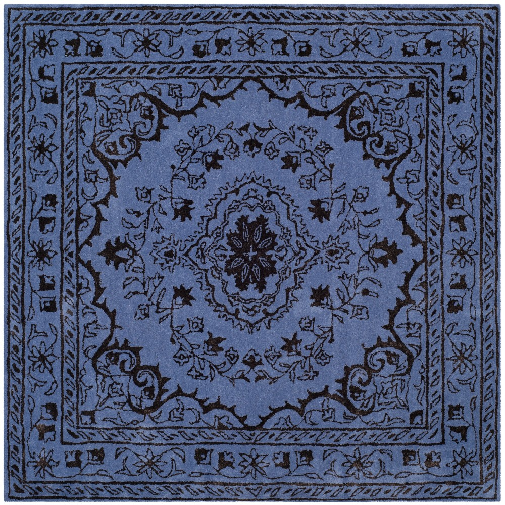 6 X6 Medallion Tufted Square Area Rug Purple Safavieh