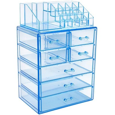Sorbus Cosmetic Makeup and Jewelry Case Organizer - Style 1 - Blue