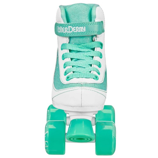 Roller Derby FireStar Youth Girls' Roller Skate - White/Mint - 3, Girl's, White Green image number null