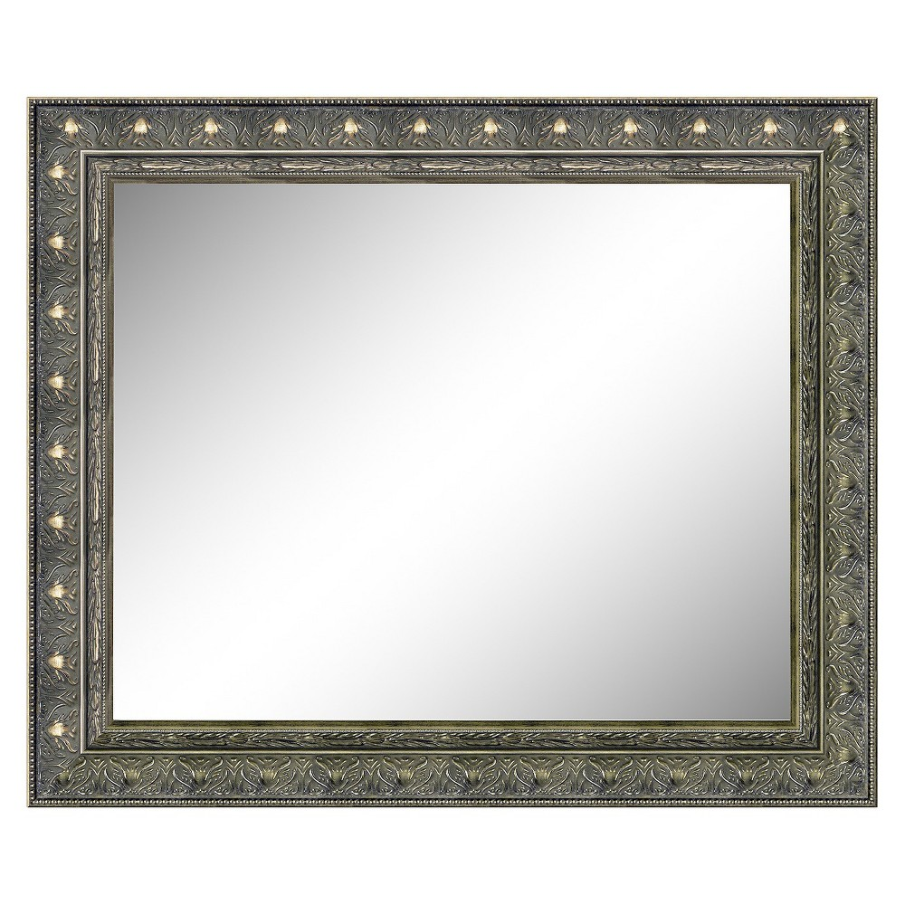 Image of Rectangle Barcelona Decorative Wall Mirror Brown - Amanti Art