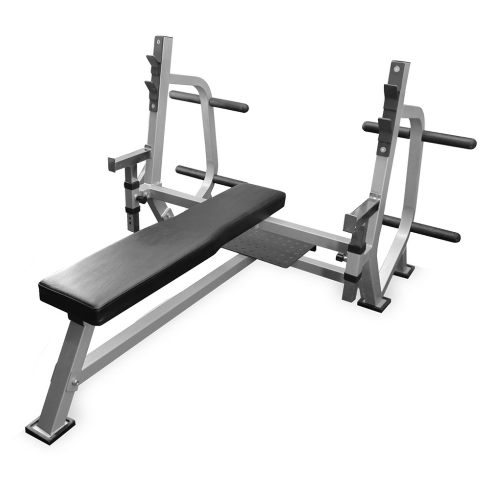 Valor Fitness BF-49 Olympic Weight Bench with Spotter Stand, Black